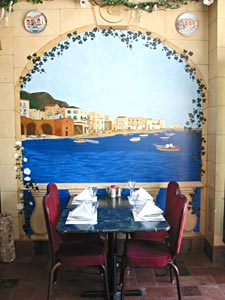 Our beautiful murals enhance your dining experience